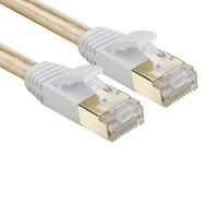 ingrosso tavoletta dello schermo-Commercio all'ingrosso 50 pz / lotto Cat 7 RJ45 schermato puro rame LAN cavo di rete Ethernet cavo Internet lunghezza 0.3 m