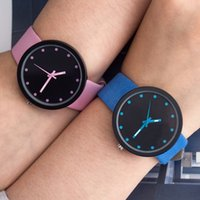 Wholesale Dot Leather Watch - fashion 2017 lovers couple colourful cowboy dots pointers leather watch wholesale mens women casual dress quartz wrist watches