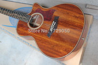 Wholesale Solid Koa - Wholesale-2015 Chinese Factory Custom New Arrival Acoustic Electric Guitar, K24CE Guitar, Natural Koa, Acoustic Guitar wiht EQ, 930