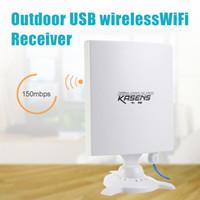 Wholesale Dbi Network - Wholesale- KASENS N9600 High Power 6600MW 150Mbps USB Wireless WiFi Adapter Network Card 80 DBI Antenna 802.11B   G   N Outdoor Long Range