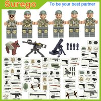 Wholesale Africa Figure - 2017 New WW2 North Africa Campaign US 5th Infantry Division Army Collection Tunisia Offensive Military Building Block Mini Toy Figure