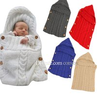 Wholesale Baby Strollers Winter - New Ins Baby Woolen yarn blanket photography Swaddling Baby Winter Sleeping Blanket wrap infant Stroller sleeping blanket 70*35CM BHB32