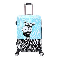 Girls wheeled suitcase France-Baby Boys Girls Cartoon Trolley Sacs scolaires / Enfants 20/28 pouces Suitcase On Wheels / Kindergarten Cute Pelush Animal Luggage