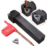 Wholesale lathe inserts - 3PCS SER1616H16 100mm Holder Lathe Turning Threading Tool 16ER AG60 Blade Insert New Tool Parts