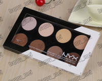 Wholesale Face Contour Palette - Factory Direct Free Shipping New Makeup Face Nyx Highlight & Contour Pro Palette 8 Colors Shadow Foundation Powder!