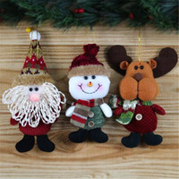 Wholesale tree doll ornaments - Santa Claus Snow Man Doll Christmas Decorations Xmas Tree Gadgets Ornaments Doll Christmas Gift Party Decoration