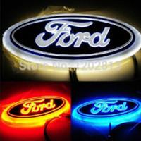 Wholesale Led Ford Badge - New High Quality WHITE Red Blue LED REAR Badge Emblem Car Logo for FORD MONDEO-10 FOCUS-07 14.5cm x 5.6cm