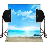 Wholesale Children Beach Paintings - seaside beach sunshine scenic for photos wedding photography backdrops camera fotografica digital cloth studio props photo background vinyl