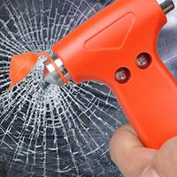 Wholesale Safety Belt Cutter - Wholesale-2 in 1 Car Glass Window Breaker Safety Escape Emergency Hammer Seat Belt Cutter CNYOWO