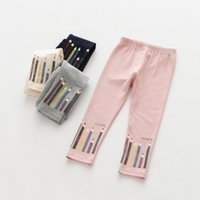 Wholesale Winter Printed Tights For Girls - Pencil letter Printed Leggings For Kids New Autumn Winter Girls Tights Children Leggings As Pants Cotton Girls Trouser Kids Clothing A917