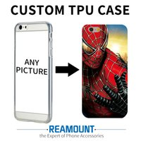 Wholesale Iphone 5s Pictures - 50pcs Spider-Man Personalized customized made own picture Transparent Hard Cover Case for iPhone5 5s 6 6s plus