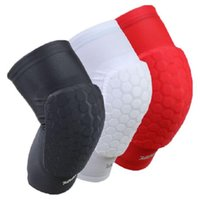 Wholesale Volleyball Knee Protectors - Wholesale Genuine Honeycomb Sponges Knee Pad Bumper Crashproof Football Basketball Volleyball Climbing Knee Protector Fishing Shipping