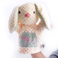 Wholesale Metoo Puppet - Wholesale- Official Metoo PLush Pink Lucky Rabbit Skirt Kids Girls Baby Developmental Hand Puppet 10'' Brand New