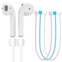Wholesale headphones wireless dhl free shipping for sale - Group buy For AirPods Bluetooth Earphone Multi color Silicone Anti lost Strap Loop String Rope Cord Accessories Wireless Headphone DHL