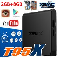 Wholesale Android Tv Box 2gb Ram - T95X Android TV Box Amlogic S905X Quad-Core Android 6.0 16.1 Fully Loaded 2GB+8GB DDR3 RAM emmc Flash Miracast 0803100