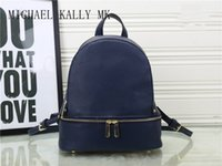 Wholesale Girl Young Hot - Hot Fashion women brand MICHAEL KALLY MK backpack style bag pu quality handbags for young girls women luxury shoulder tote bags purse