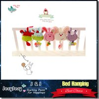 Wholesale Musical Devices - Soft Plush Musical Baby Rattles Mobiles Stuffed Toy With BB Device Stroller Hanging Bed Dolls Rabbit Educational Toy 0-12 Months