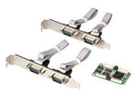 мини-экспресс-карты оптовых-Mini PCI express 4 последовательных порта контроллер карты mini PCIe для DB9 RS232 адаптер mini PCI-E COM Card MCS9904