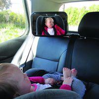 крепежный ремень оптовых-Регулируемое автомобильное заднее сиденье для ребенка Безопасное зеркало с подголовником Зеркало безопасности с надежным подголовником с двойным ремешком