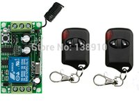 Wholesale Remote Receiver 12v Garage - Wholesale- Hot Sales DC 12V 10A 1CH Wireless RF Remote Control Switch 2* cat eye Transmitter+ 1*Receiver light  lamp  window Garage Doors