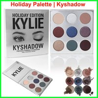 Wholesale Luminous Christmas - In stock christmas kylie holiday edition eyeshadow Kylie Jenner holiday collection Christmas Eye Shadow Palette Kyshadow Cosmetics