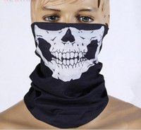 Wholesale Low Priced Caps - Cool Skull Bandana Bike Helmet Neck Face Mask Paintball Ski Sport Headband new fashion good quality low price Party hood