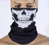yeni kayak kafatası maskesi toptan satış-Kafatası Bandana Bisiklet Kaskı Boyun Yüz Paintball Kayak Spor Kafa yeni moda kaliteli düşük fiyat Parti kaputu Maske Soğuk