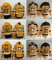 crosby jersey de invierno al por mayor-Venta al por mayor sudaderas clásicas de invierno Jersey 87 Sidney Crosby 81 Phil Kessel 71 Evgeni Malkin sudaderas Hockey Jerseys