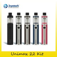 Wholesale Bfl Single - Authentic Joyetech Unimax 22 Starter Kit With 2ml Atomizer 2200mah TFTA Top Refilling Tank Authentic BFL 0.5OHM Coils 100% Original 2220066