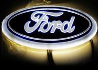 Wholesale Led Ford Badge - car 4D led emblem logo symbols badge emblem 12V white blue red color size 145x56mm