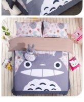 Wholesale Totoro Comforter Set - 4 Pieces Set Comforter Bedding Sets 3D Reactive Printing grey totoro Beds Bed Sheet Set Duvet Cover Beddings set