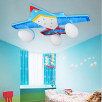 Wholesale Surface Planes - Children Room Ceiling lights cartoon Plane Lamps LED E27 Kids Bedroom Surface mounted Ceiling lamps