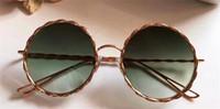 Wholesale Twist Eyes - New luxury fashion brand designer sunglasses MJ 121 metal round retro twist frame simple leisure summer style eye protection catwalk models