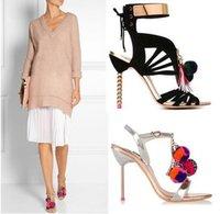envoltura del dedo del pie al por mayor-NUEVA alta calidad peep toe con cordones diseño de la bola tobillo con lentejuelas mujeres sandalias Gladiador sandalias de perlas de fiesta con zapatos de mujer