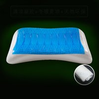 Therapy space seating - Gel pillow slow rebound space hydrophilic memory cotton cervical vertebra protection
