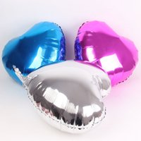 Wholesale Heart Shaped Silver Foil Balloons - Free Shipping 50 Pcs Lot 18 Inch Wholesales Party Decoration Helium Inflable Heart Shaped Wedding Aluminum Foil Balloon