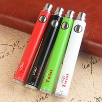 Wholesale Hot Vape Twist - Hot vape battery Upgraded EVOD Twist Ugo Twist voltage adjust Micro USB Passthrough e cigarette vapes for wax oil vaperizer with USB cable