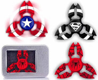 Wholesale Wholesale Iron Legs - Captain America Iron Man Spider Man Three Crabs Leg Fidget Spinner Zinc alloy Hand Spinner Toy EDC Autism ADHD Finger Gyro Toy Adult Gifts