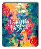 Wholesale paintings clouds resale online - Hakuna Matata Painted Clouds Mouse Pad Customized Game Mouse mat Rectangle mouse mat