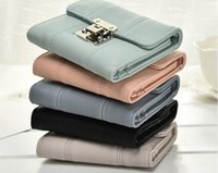 Wholesale Korean Caught - 2017. New pattern. Lady Wallet. Woman. Lock catch. Short paragraph. Wallet. Card pack. Purse. Wallets & Holders. Vogue.PU. Soft. wholesale.