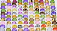 100 Pcs Assorted Sexy Leopard Print Adulto Lucite Resina Rings Mixed Jewellery Gift