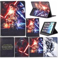Wholesale Star Flip Case - Star Wars The Force Awakens Stormtrooper Jedi Knight Black Darth Vader Flip PU Leather Case Cover For iPad 2 3 4 5 6 Pro 9.7 inch Air Air2