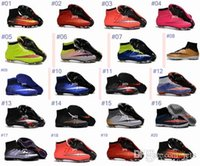 Wholesale Boys Pink Socks - Newairl kids soccer shoes for boys mercurial superfly fg cr7 sock boots football womens mens high tops ronaldo ankle indoor soccer cleats