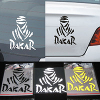 Wholesale Stickers Rally - Dakar Rally Car Window Truck SUV Bumper Auto Door Motorcycle Tool Box Winshield Sticker Reflective Funny Vinyl Decals 11*11cm