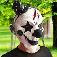 Wholesale Grudge Halloween Masks - Wholesale- 2016Horror!Halloween Mask Clown Mask Halloween Props Grudge Ghost Hedging Zombie Mask Realistic Silicone Masks Masquerade Ball8z