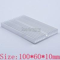 Wholesale Heat Sink Radiator - Free shipping heatsink 100*60*10MM aluminum electronic radiator PCB heat sink block Special offer