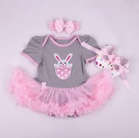 Wholesale Baby Shoes Golden - baby girl toddler 3piece set outfits I love mummy princess Number 1 crown romper tutu diaper covers Lace dress golden + bow headband + shoes