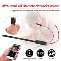 Wholesale security camera small - ultra-small WIFI Remote Network Camera A1 HD 1080P Module board camera MINI DIY Module Video Recorder Cam Wireless Home Security Camera