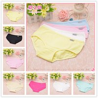 Wholesale Modal Knickers - 2016 New Hot 12 Colors Fashion Sexy Women's Cotton Underwears Women's Briefs Ladies Panties Breathable Underpants Girls Knickers