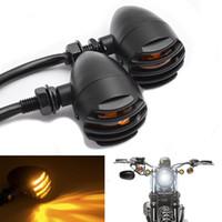 Wholesale Universal Motorcycle Turn Signals - 2x Universal Motorcycle 12V Amber LED Turn Signal Indicator Blinker Light